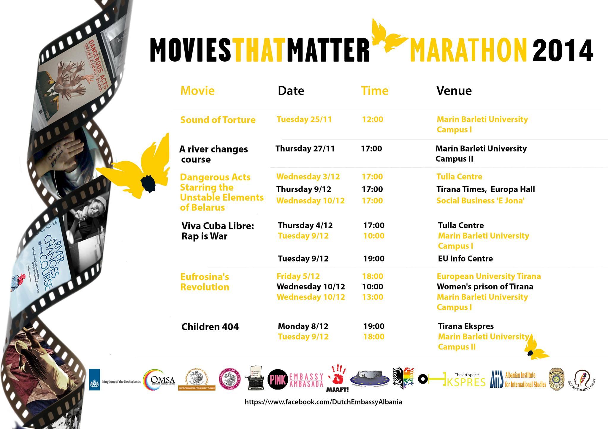 Movies That Matter Marathon 2014